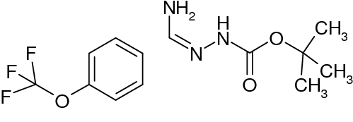 N'-[1-Amino-1-(4-(trifluoromethoxy)phenyl)methylidene]hydrazinecarboxylic acid tert-butyl ester