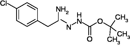 N'-[1-Amino-2-(4-chlorophenyl)ethylidene]hydrazinecarboxylic acid tert-butyl ester