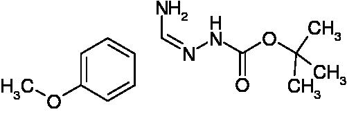 N'-[1-Amino-1-(4-methoxyphenyl)methylidene]hydrazinecarboxylic acid tert-butyl ester