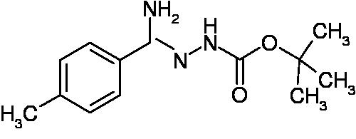 N'-[1-Amino-1-p-tolylmethylidene]hydrazinecarboxylic acid tert-butyl ester