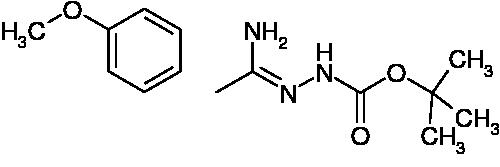 N'-[1-Amino-2-(4-methoxyphenyl)ethylidene]hydrazinecarboxylic acid tert-butyl ester