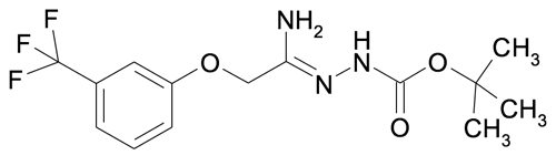 N'-[1-Amino-2-(3-(trifluoromethyl)phenoxy)ethylidene]hydrazinecarboxylic acid tert-butyl ester