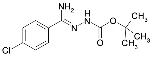 N'-[1-Amino-1-(4-chlorophenyl)methylidene]hydrazinecarboxylic acid tert-butyl ester