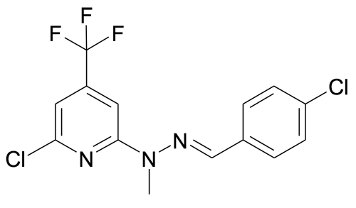 | MFCD19981165 | N'-[1-(4-Chloro-phenyl)-meth-(E)-ylidene]-N-(6-chloro-4-trifluoromethyl-pyridin-2-yl)-N-methyl-hydrazine | acints