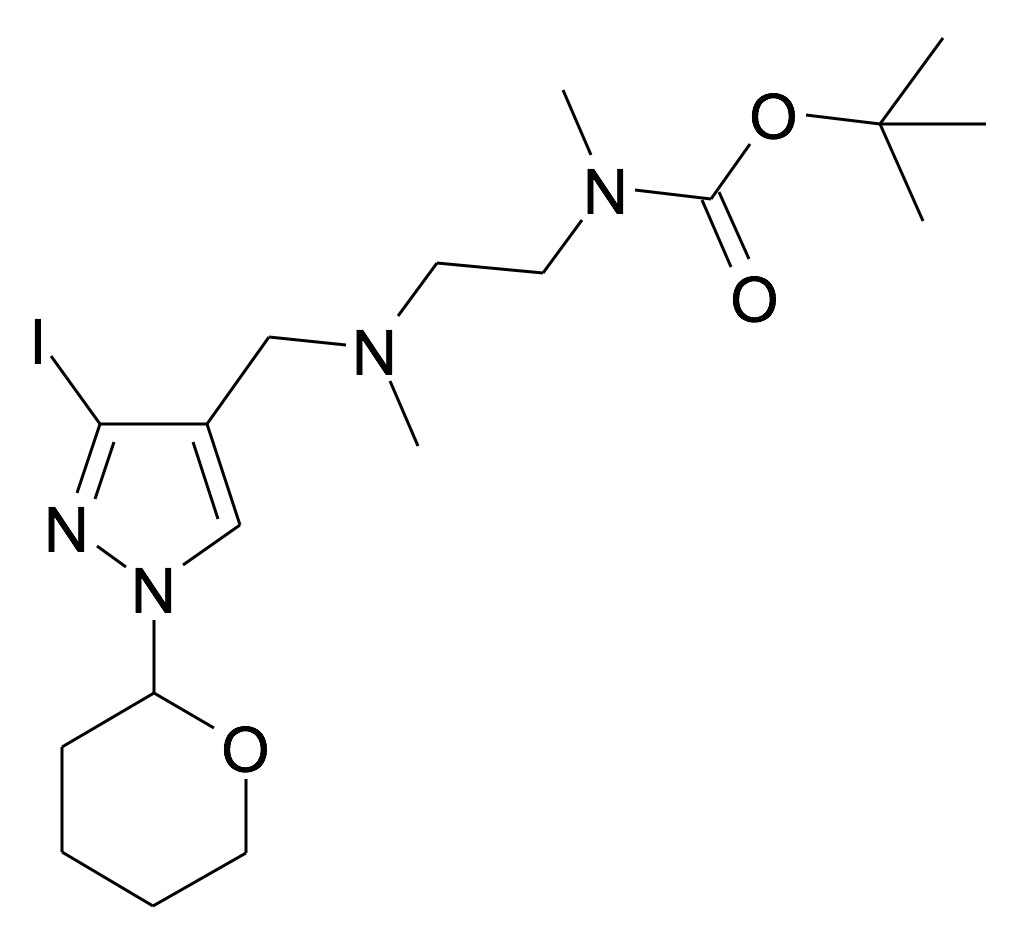 (2-{[3-Iodo-1-(tetrahydro-pyran-2-yl)-1H-pyrazol-4-ylmethyl]-methyl-amino}-ethyl)-methyl-carbamic acid tert-butyl ester