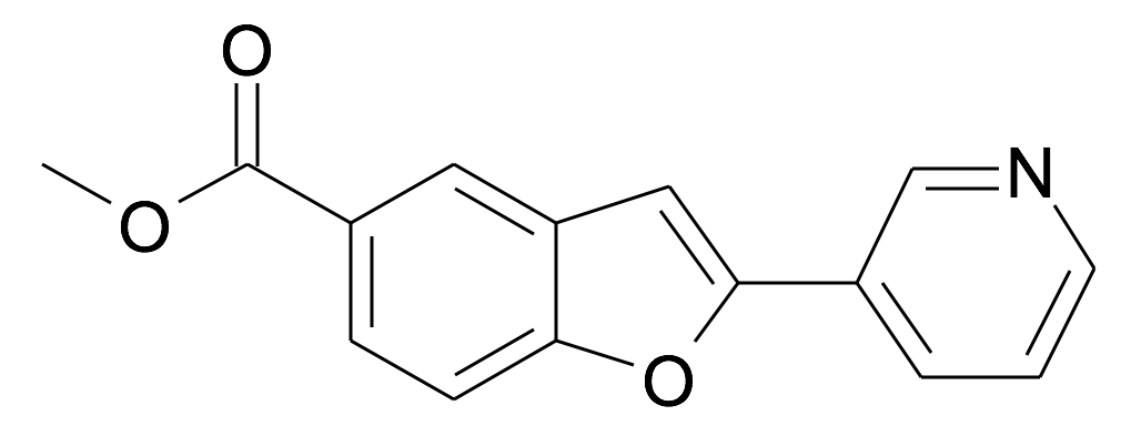 2-Pyridin-3-yl-benzofuran-5-carboxylic acid methyl ester