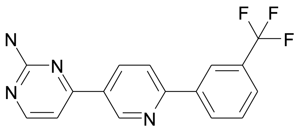 4-[6-(3-Trifluoromethyl-phenyl)-pyridin-3-yl]-pyrimidin-2-ylamine