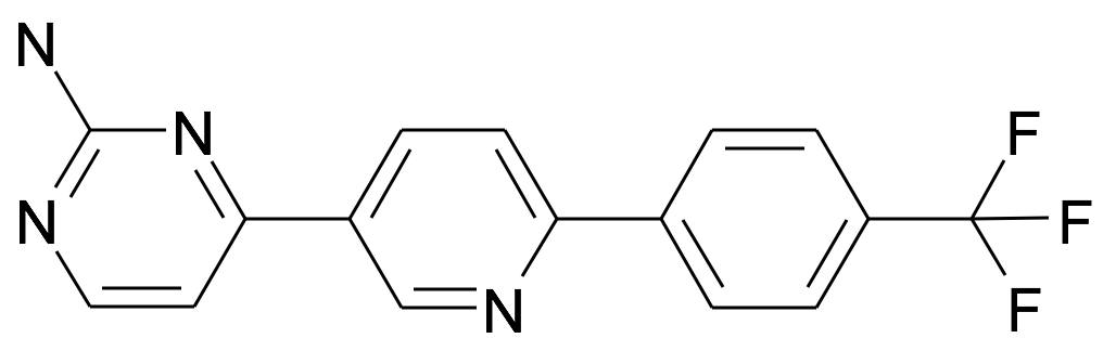 4-[6-(4-Trifluoromethyl-phenyl)-pyridin-3-yl]-pyrimidin-2-ylamine