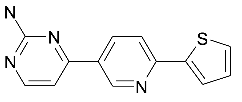 4-(6-Thiophen-2-yl-pyridin-3-yl)-pyrimidin-2-ylamine