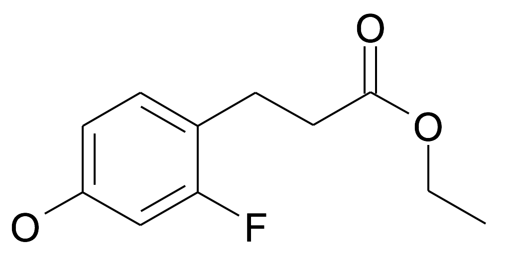 3-(2-Fluoro-4-hydroxy-phenyl)-propionic acid ethyl ester