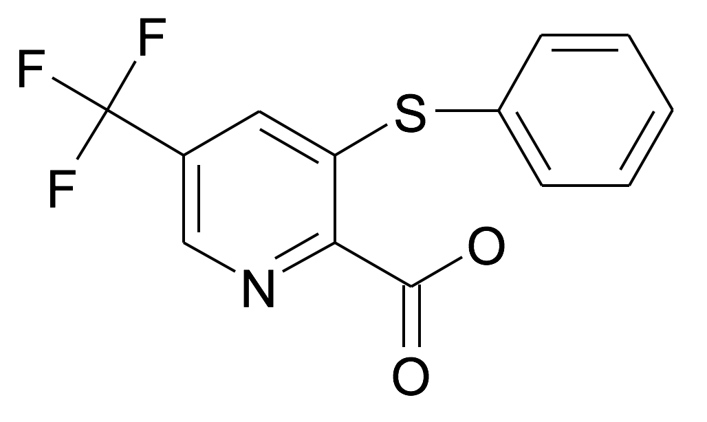 3-Phenylsulfanyl-5-trifluoromethyl-pyridine-2-carboxylic acid