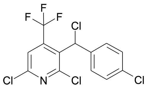 2,6-Dichloro-3-[chloro-(4-chloro-phenyl)-methyl]-4-trifluoromethyl-pyridine