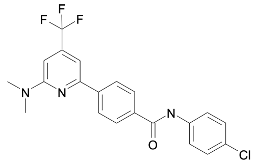 | MFCD19981188 | N-(4-Chloro-phenyl)-4-(6-dimethylamino-4-trifluoromethyl-pyridin-2-yl)-benzamide | acints