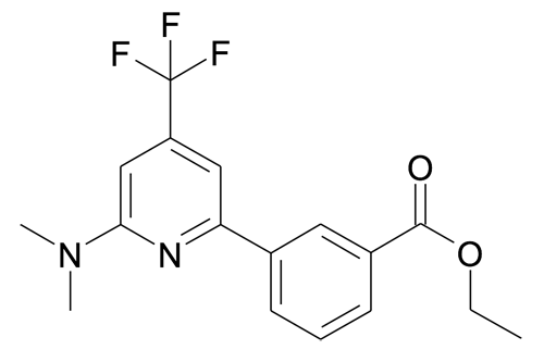 3-(6-Dimethylamino-4-trifluoromethyl-pyridin-2-yl)-benzoic acid ethyl ester
