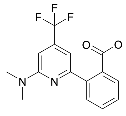 2-(6-Dimethylamino-4-trifluoromethyl-pyridin-2-yl)-benzoic acid