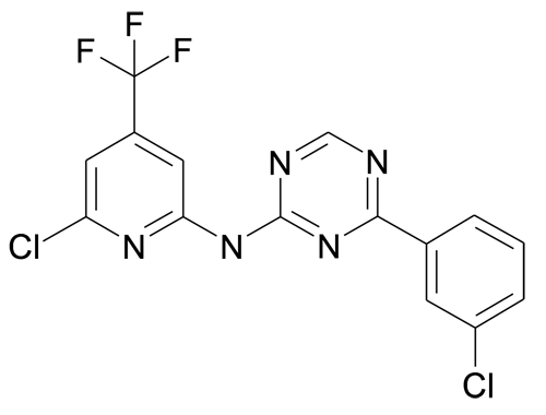 [4-(3-Chloro-phenyl)-[1,3,5]triazin-2-yl]-(6-chloro-4-trifluoromethyl-pyridin-2-yl)-amine