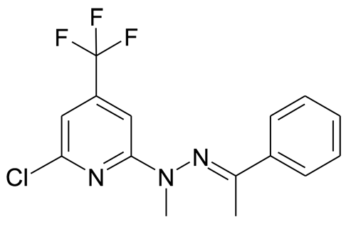 N-(6-Chloro-4-trifluoromethyl-pyridin-2-yl)-N-methyl-N'-[1-phenyl-eth-(E)-ylidene]-hydrazine