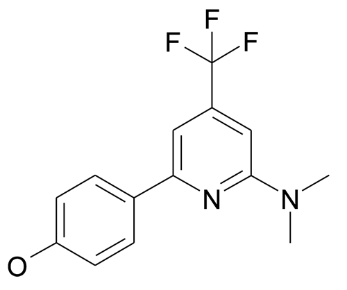 4-(6-Dimethylamino-4-trifluoromethyl-pyridin-2-yl)-phenol