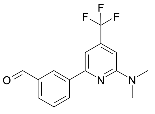 3-(6-Dimethylamino-4-trifluoromethyl-pyridin-2-yl)-benzaldehyde