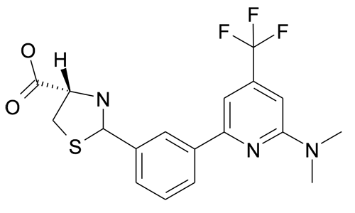 (S)-2-[3-(6-Dimethylamino-4-trifluoromethyl-pyridin-2-yl)-phenyl]-thiazolidine-4-carboxylic acid