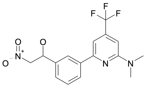 1-[3-(6-Dimethylamino-4-trifluoromethyl-pyridin-2-yl)-phenyl]-2-nitro-ethanol