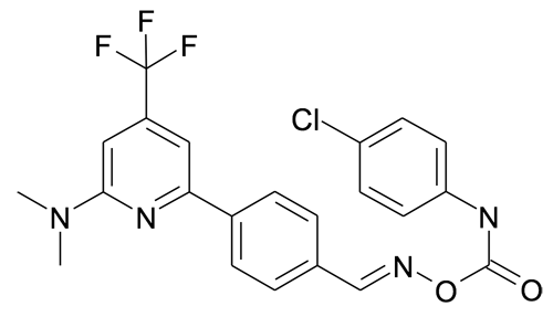 O-(4-chlorophenylamino)carbonyl-4-(6-dimethylamino-4-trifluoromethylpyridin-2-yl)benzaldehyde oxime