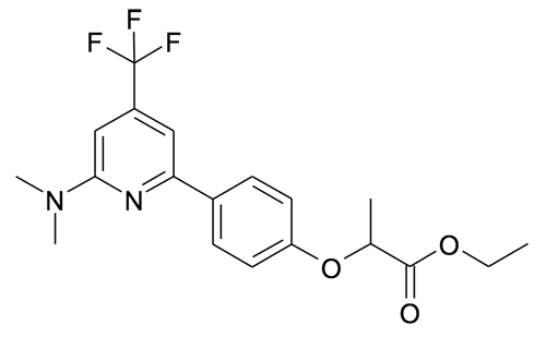 | MFCD19981244 | 2-[4-(6-Dimethylamino-4-trifluoromethyl-pyridin-2-yl)-phenoxy]-propionic acid ethyl ester | acints