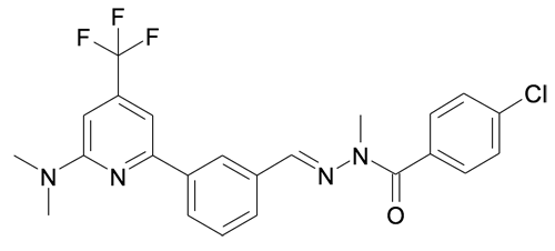 4-Chloro-benzoic acid N'-[1-[3-(6-dimethylamino-4-trifluoromethyl-pyridin-2-yl)-phenyl]-meth-(E)-ylidene]-N-methyl-hydrazide