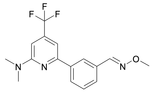 3-(6-Dimethylamino-4-trifluoromethyl-pyridin-2-yl)-benzaldehyde O-methyl-oxime