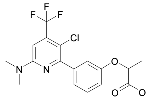 2-[3-(3-Chloro-6-dimethylamino-4-trifluoromethyl-pyridin-2-yl)-phenoxy]-propionic acid