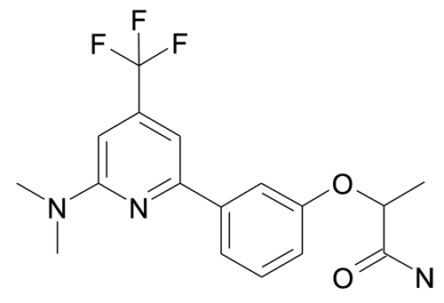 2-[3-(6-Dimethylamino-4-trifluoromethyl-pyridin-2-yl)-phenoxy]-propionamide