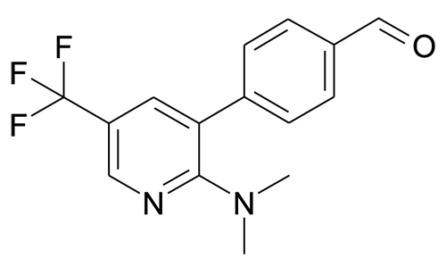 4-(2-Dimethylamino-5-trifluoromethyl-pyridin-3-yl)-benzaldehyde