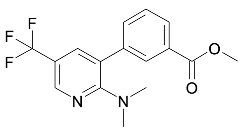 3-(2-Dimethylamino-5-trifluoromethyl-pyridin-3-yl)-benzoic acid methyl ester