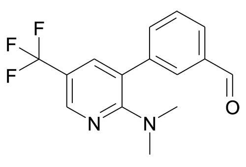 3-(2-Dimethylamino-5-trifluoromethyl-pyridin-3-yl)-benzaldehyde