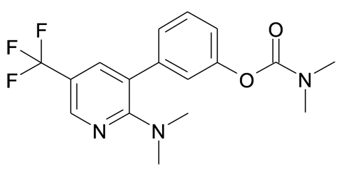 Dimethyl-carbamic acid 3-(2-dimethylamino-5-trifluoromethyl-pyridin-3-yl)-phenyl ester