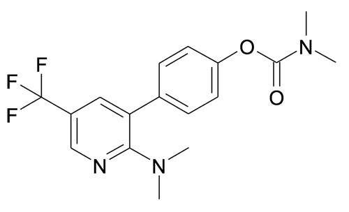 Dimethyl-carbamic acid 4-(2-dimethylamino-5-trifluoromethyl-pyridin-3-yl)-phenyl ester