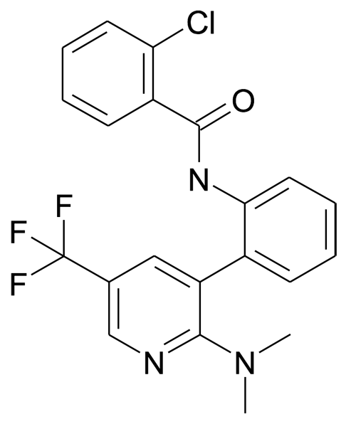 2-Chloro-N-[2-(2-dimethylamino-5-trifluoromethyl-pyridin-3-yl)-phenyl]-benzamide
