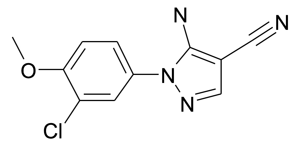 5-Amino-1-(3-chloro-4-methoxy-phenyl)-1H-pyrazole-4-carbonitrile