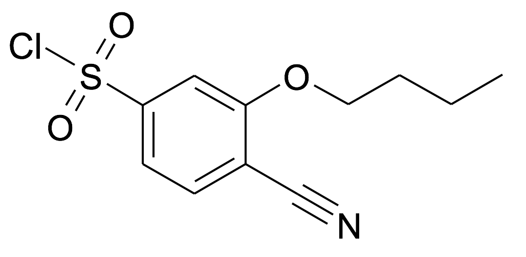 3-Butoxy-4-cyano-benzenesulfonyl chloride