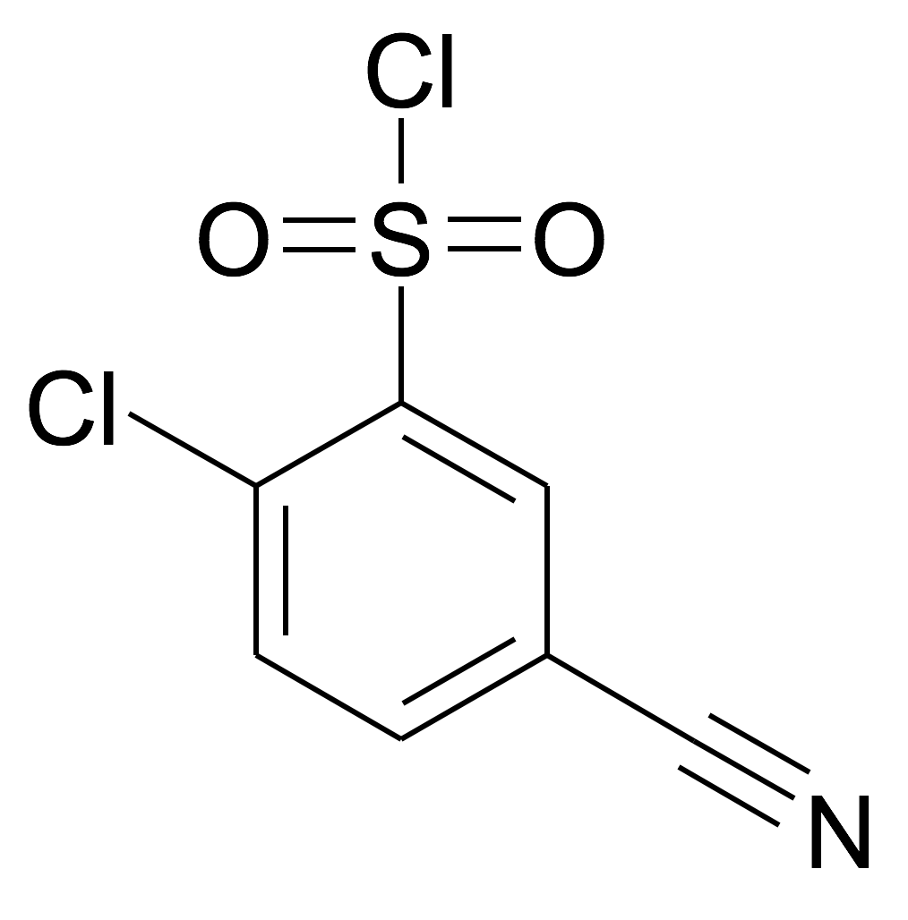 2-Chloro-5-cyano-benzenesulfonyl chloride