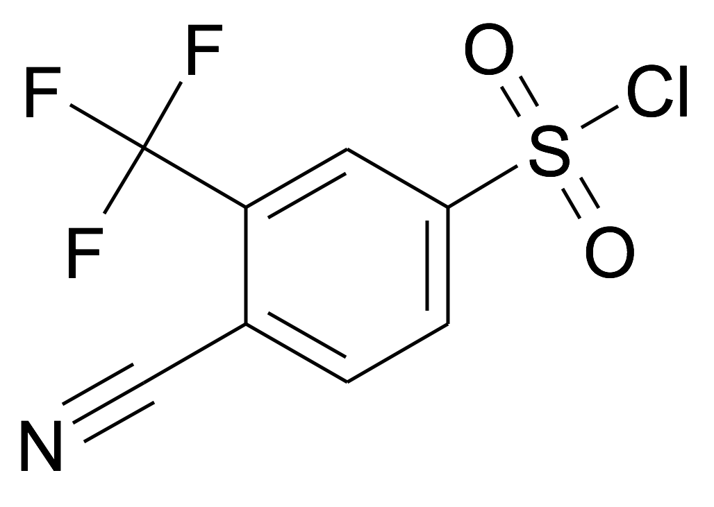 4-Cyano-3-trifluoromethyl-benzenesulfonyl chloride