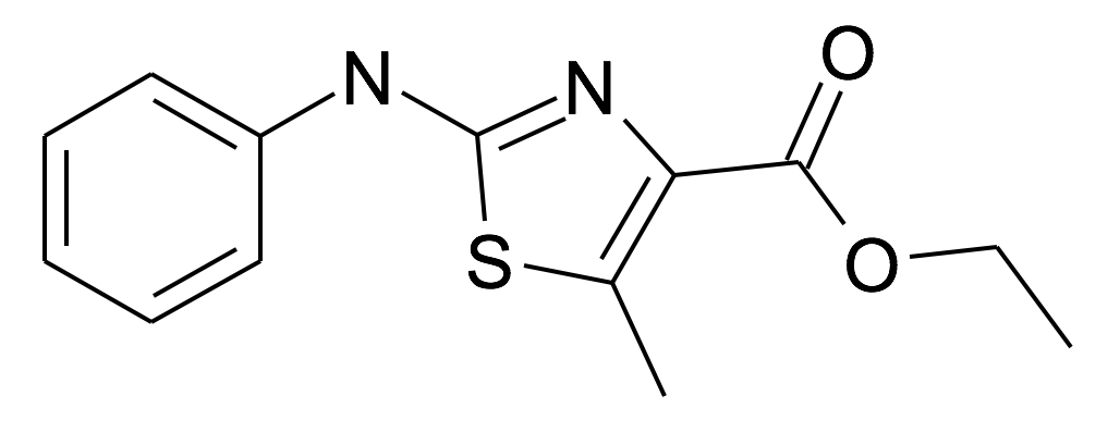 5-Methyl-2-phenylamino-thiazole-4-carboxylic acid ethyl ester