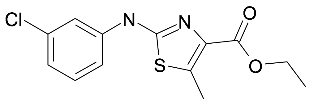 2-(3-Chloro-phenylamino)-5-methyl-thiazole-4-carboxylic acid ethyl ester