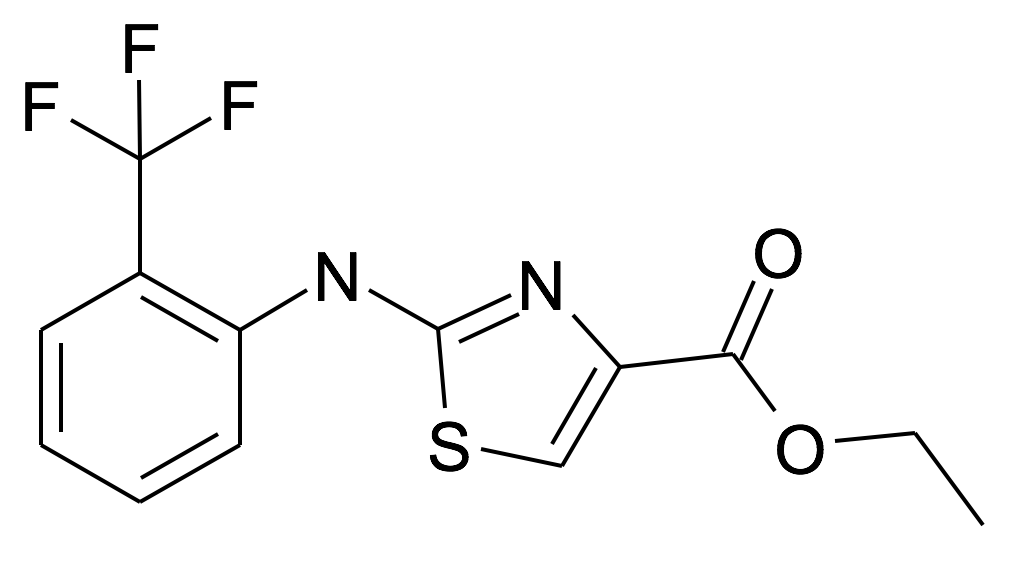 2-(2-Trifluoromethyl-phenylamino)-thiazole-4-carboxylic acid ethyl ester