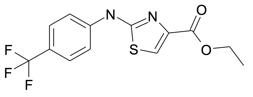 2-(4-Trifluoromethyl-phenylamino)-thiazole-4-carboxylic acid ethyl ester