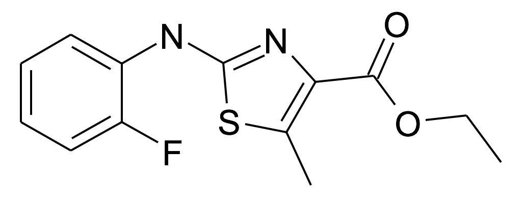 2-(2-Fluoro-phenylamino)-5-methyl-thiazole-4-carboxylic acid ethyl ester