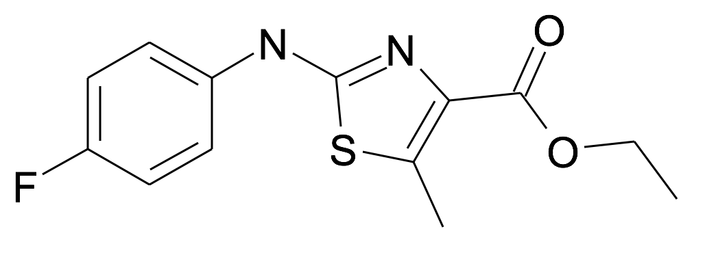 2-(4-Fluoro-phenylamino)-5-methyl-thiazole-4-carboxylic acid ethyl ester