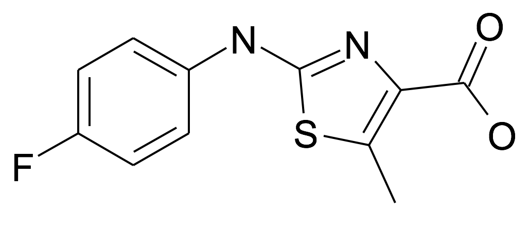 | MFCD25202228 | 2-(4-Fluoro-phenylamino)-5-methyl-thiazole-4-carboxylic acid | acints