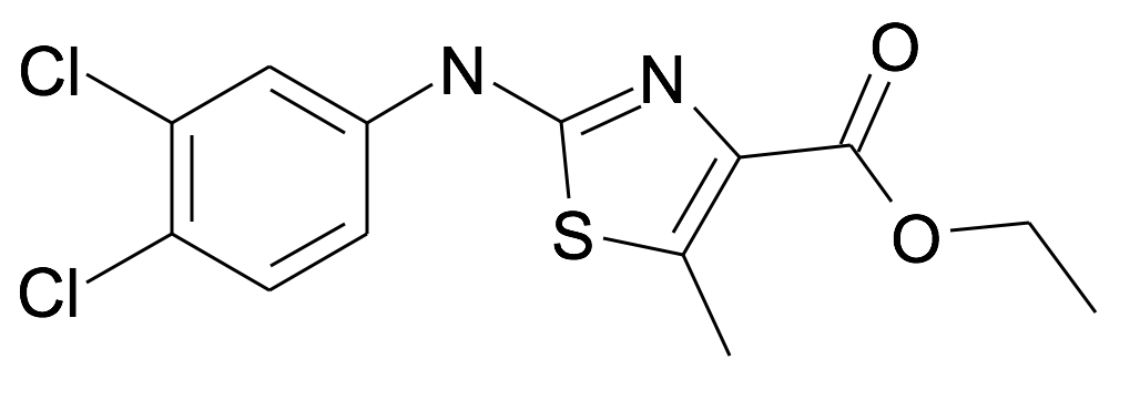 2-(3,4-Dichloro-phenylamino)-5-methyl-thiazole-4-carboxylic acid ethyl ester