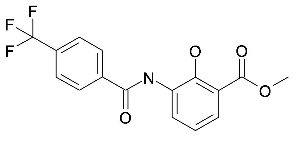 2-Hydroxy-3-(4-trifluoromethyl-benzoylamino)-benzoic acid methyl ester